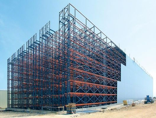 China Rack Supported ASRS Racking System Anti Seismic With PU Foam Board Cladded supplier