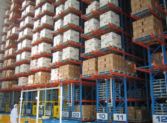 China Self Supported Industrial Racking And Steel Storage Systems Height 10-30M supplier