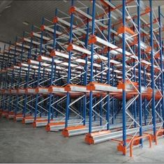 China Upright Beam Steel Pallet Rack Storage Systems Transport Convenient Corrosion Protection supplier