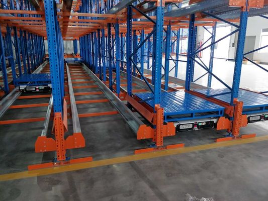 China Powder Coating Surface Radio Shuttle Racking System Semi Automatic Storage supplier