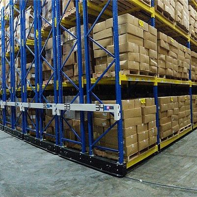 China Light Duty Movable Racking Systems / Mobile Storage Systems For Special Supermarket supplier